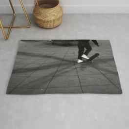 Man & Skateboard Rug