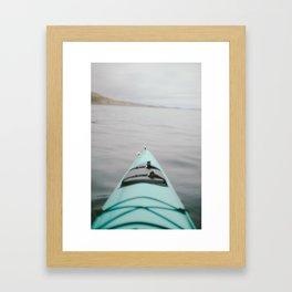 sea kayak Framed Art Print