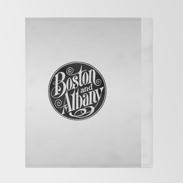 BOSTON & ALBANY Railroad circa 1900 Throw Blanket