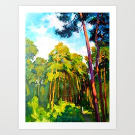Whisper of pines Art Print
