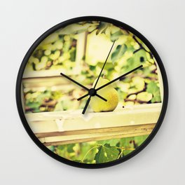 Fruit Pear in the Orchard Wall Clock