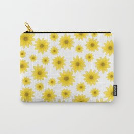 Sunflower Floral Pattern Carry-All Pouch
