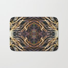 Geometric Roots Bath Mat