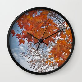 Fall Tree Photography Print Wall Clock