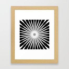 Starburst Black and White Pattern Framed Art Print