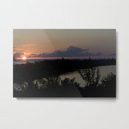 St. Maarten Sunset Metal Print