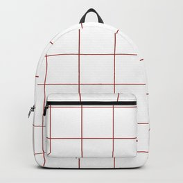 Graph Paper (Maroon & White Pattern) Backpack