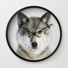 Wolf 2 - Colorful Wall Clock