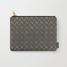 Metal - Checker plate gold reflections Carry-All Pouch