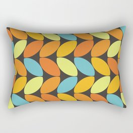 Retro 70s Color Palette Leaf Pattern II Rectangular Pillow
