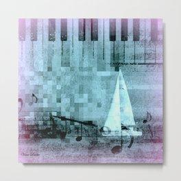under sail Metal Print