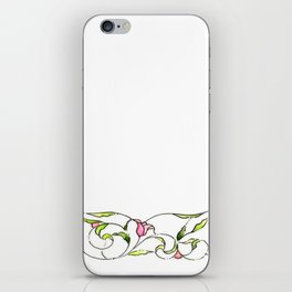 Tulips watercolor (white) iPhone Skin