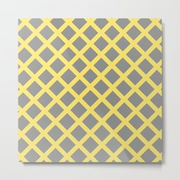 Grey and Yellow Grill Metal Print