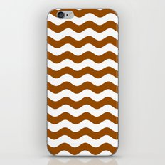 Wavy Stripes (Brown/White) iPhone & iPod Skin