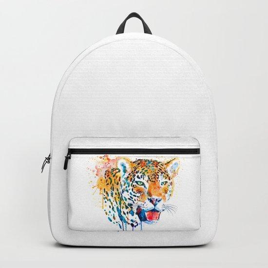 Leopard Head Portrait Backpack