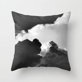 'Colliding Clouds' Throw Pillow