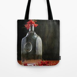 Still life with red Viburnum Tote Bag