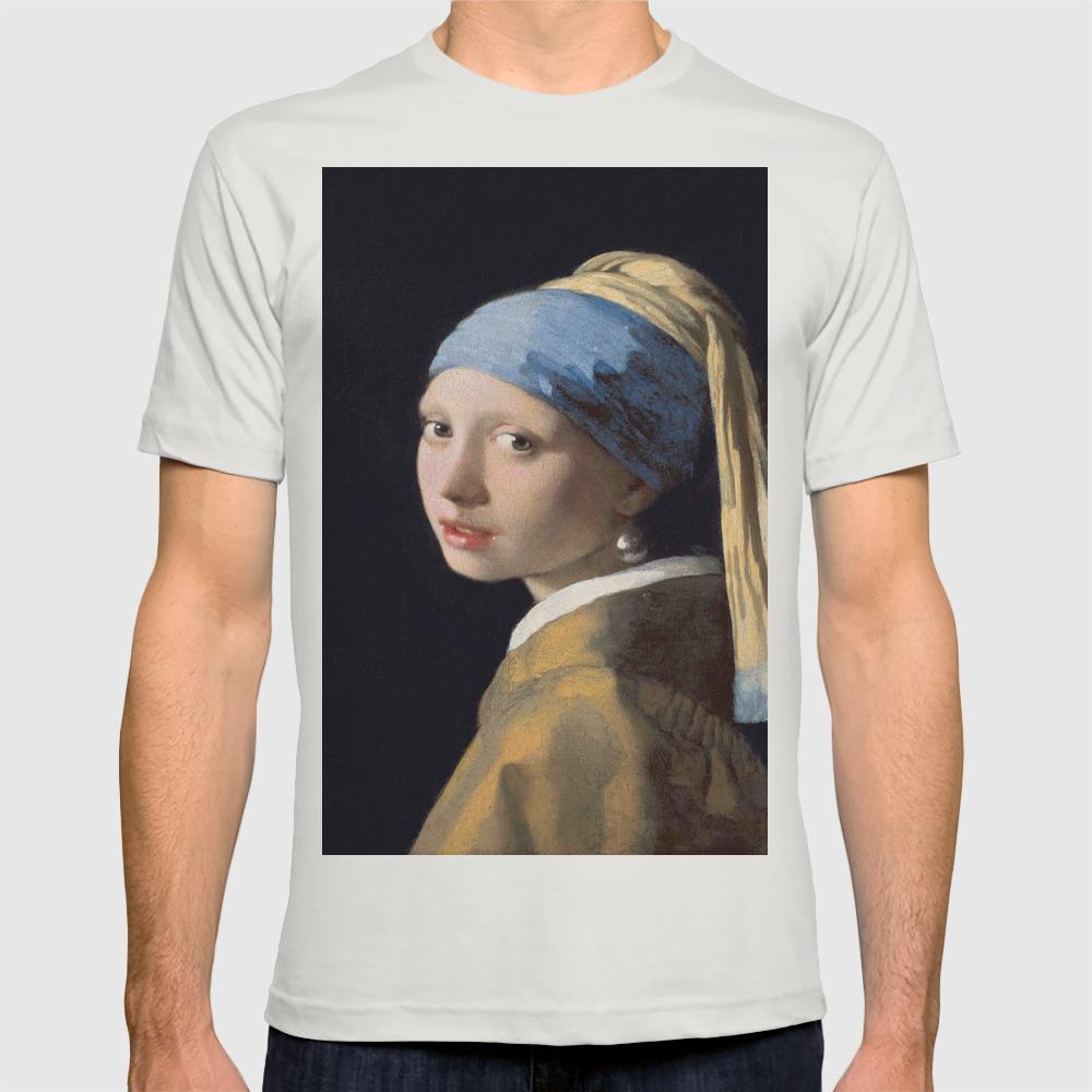 Vermeer, Girl with a Pearl Earring,Meisje met de parel,La joven de la perla  T-shirt by oldking | Society6