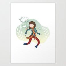 MY LITTLE FRIEND Art Print