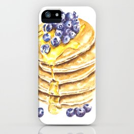 Pancake Stack Watercolor Painting iPhone Case