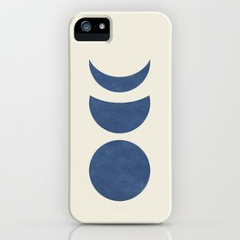 Lunar Phase - Blue iPhone Case