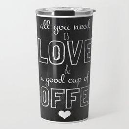 Love and coffee Travel Mug