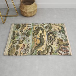 Reptiles Poster Vintage Rug