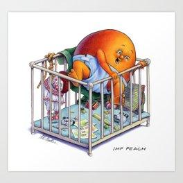 Imp Peach Art Print