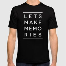 Let's Make Memories Black SMALL Mens Fitted Tee