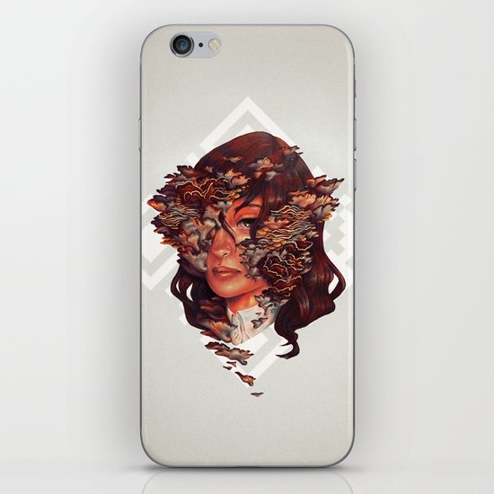 Medusoid mycelium iPhone & iPod Skin