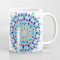 royal Mugs featuring Royal Blue Mandala by Cat Coquillette