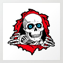 SKULL GIVE A SURPRISE Art Print