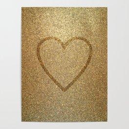 Gold Heart Poster