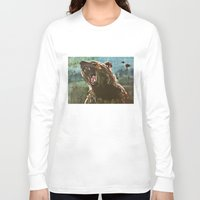 teddy bear Long Sleeve T-shirts featuring TEDDY by Tina Yu
