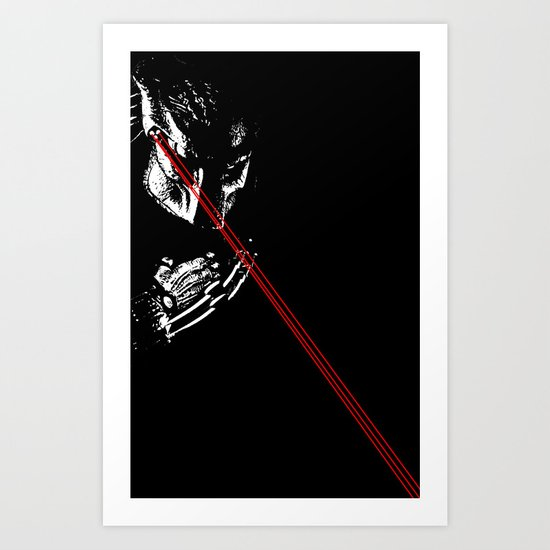 Predator black and white Art Print