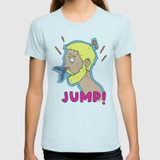 JUMP! Womens Fitted Tee Light Blue SMALL