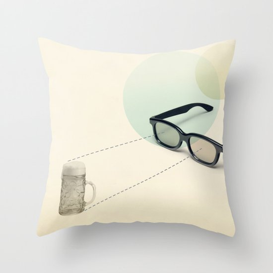 beer goggles Throw Pillow