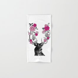 The Stag and Roses | Pink Hand & Bath Towel