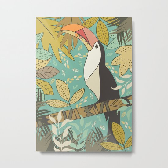 Forest Toucan  Metal Print