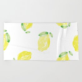 Lemon Love Beach Towel