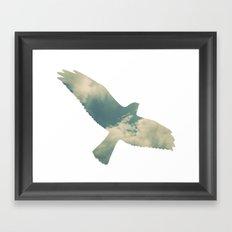 Cloud Bird Framed Art Print