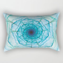 Aqua-green marine flower Rectangular Pillow