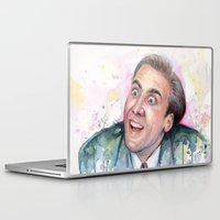 nicolas cage Laptop & iPad Skins featuring Nicolas Cage You Don't Say by Olechka