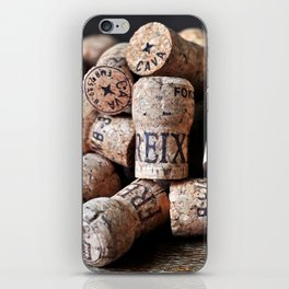 Cork of Champagne iPhone Skin