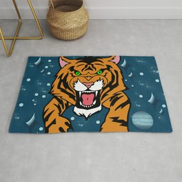 Lucky Tiger Jean Jacket (We Bare Bears) Rug