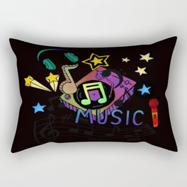 #music Rectangular Pillow