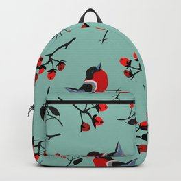 Bird Seamless Pattern. Bullfinch birds Backpack