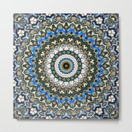 Ornate Colorful Mandala Metal Print