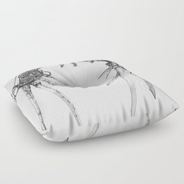 Scissorhands (BnW) Floor Pillow
