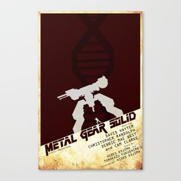 MGS Poster  Canvas Print